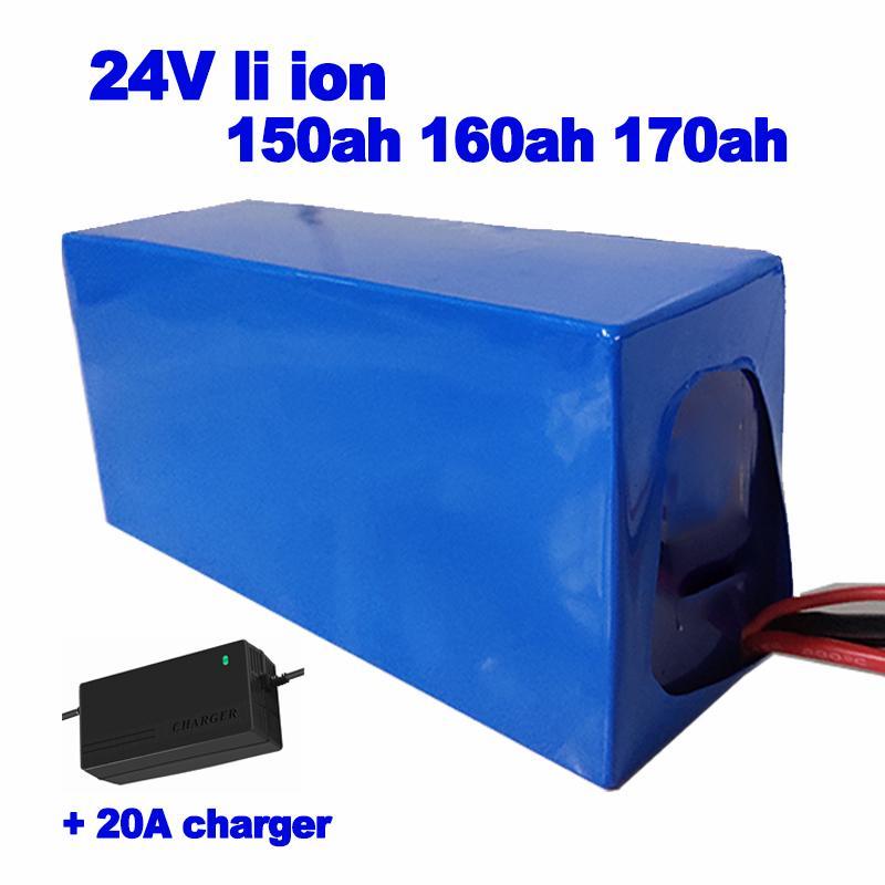 Customized 24v 150Ah 160Ah 170Ah Lithium-Ionen-Akku Leistung 80A BMS für Photovoltaik-AGV Roboter Propeller UPS + 20A Ladegerät