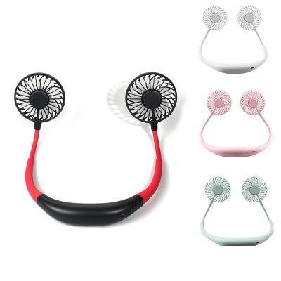 Mini ventilateur USB Personal Free Éventail portable rechargeable cou ventilateur 360 degrés Réglage tête Hanging ventilateurs cou pour Voyage extérieur EEA1893