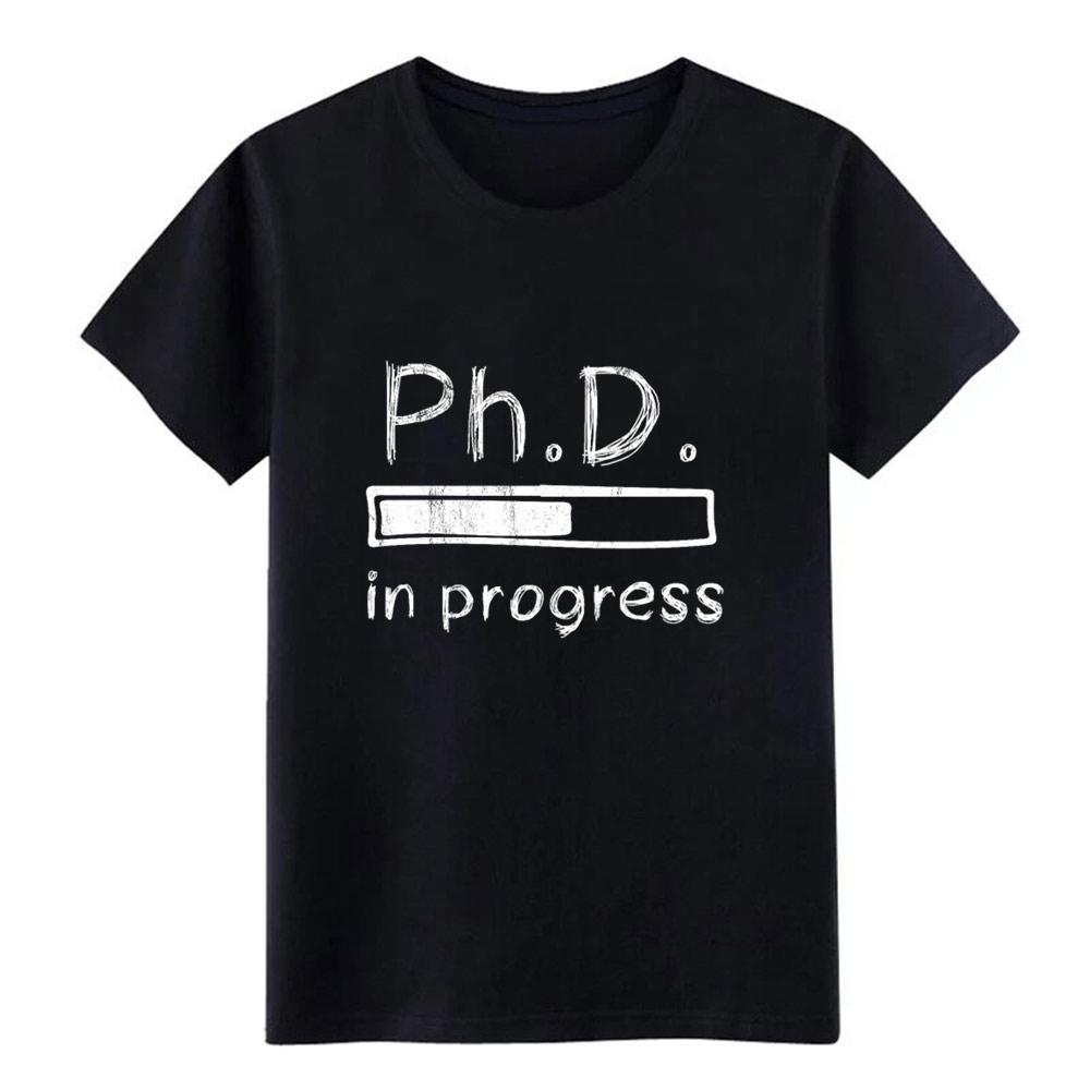 phd phd hommes chemise barre de progression de chargement t coton personnalisé rond gents cou Intéressant drôle Chemise décontractée Motif Printemps