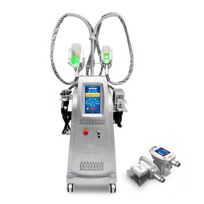 4 Kolları Cryolipolysis Zayıflama Makinesi 360 Açı Çevreleyen Soğuk Vücut Yağ Dondurucu Freezing Sculpting Coldlipolysis Vakum Lipo Lazer Ultrasonik