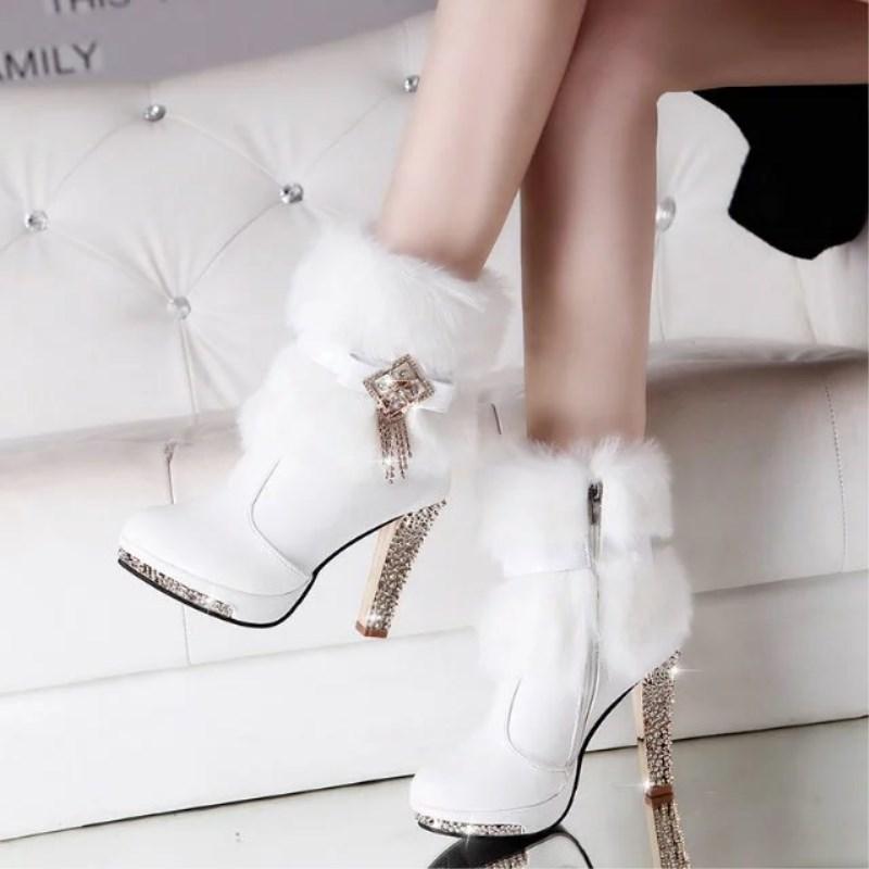 Snow Boots Winter Women Boot Plus Size Quality Fashion Platform Shoe Woman Shoes Ladies High heels