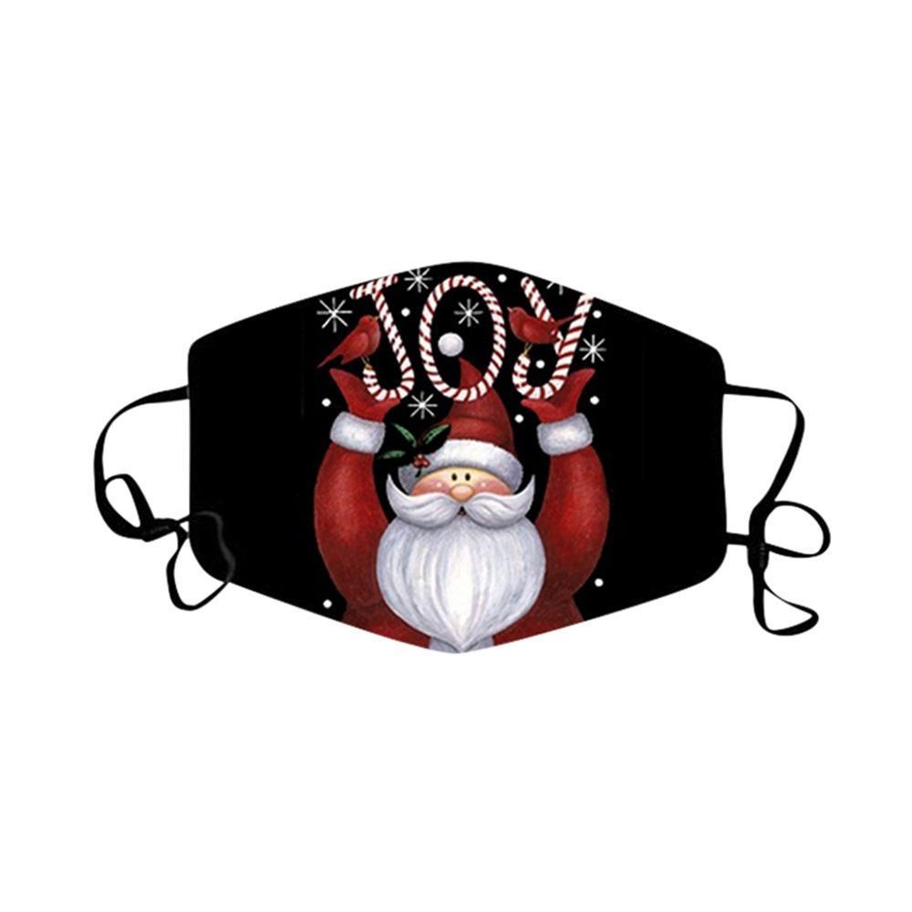 Moda Navidad Party Face Masks Reutilizable Lavable Impreso Dibujos Animados Navidad Máscara A prueba de viento Anti Dust Masks DHL GWA1509