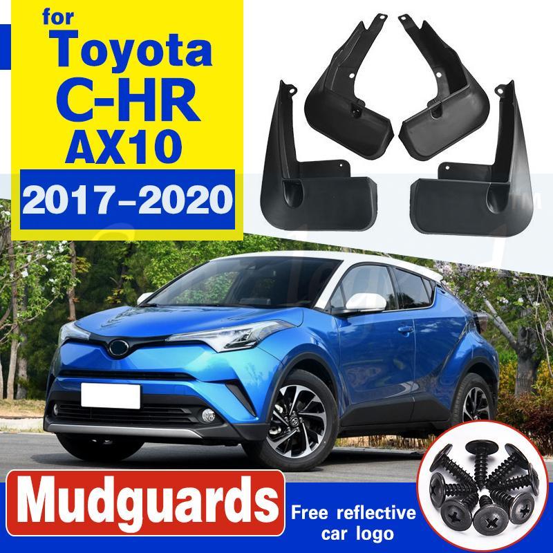 Autozubehör Für Toyota CHR CHR 2017-2020 2018 2019 4PCS Mud Flaps Splash Guards Fender Kotflügel Kit Schlamm-Klappen-Spritzen-Schutz