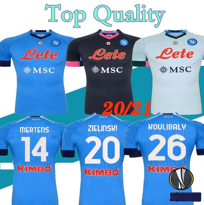 S-XXL 20 21 napoli soccer jersey home away 3RD BLUE 2020 2021 Naples ZIELINSKI HAMSIK INSIGNE MERTENS CALLEJON PLAYER ROG football shirts