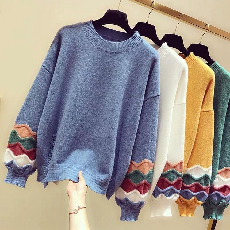 MHqtt 2020 Koreanisch und Herbstfrauen Winter-Stil neue Pullover Frauen verdickte Pullover Sonderangebot