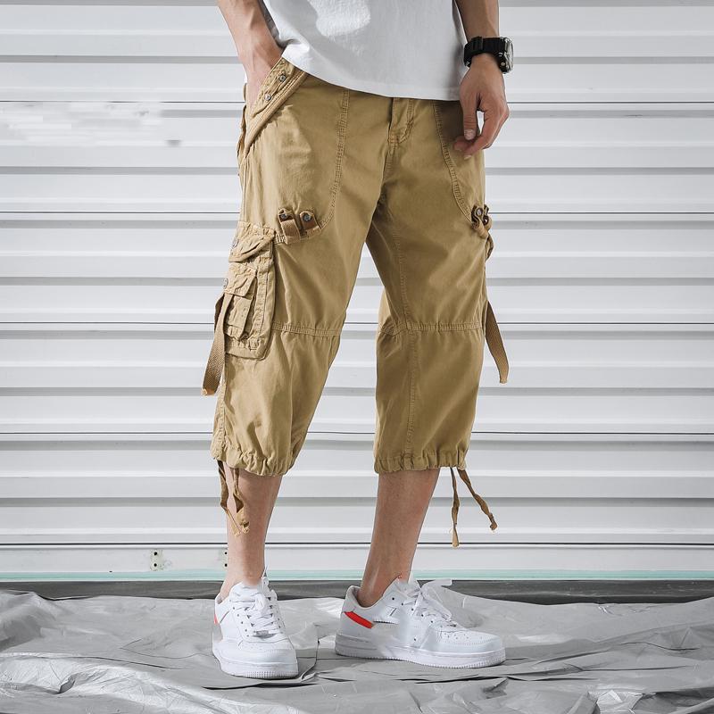 Мужские шорты мужские грузы 2021 летняя марка армии тактический хлопок свободная работа повседневная короткая плюс негабарит