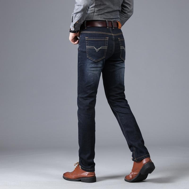 8sX7X Nuevo y de los hombres de los pantalones vaqueros 2020 pantalones de los hombres casuales cuatro estaciones coreanas negocio estiramiento pantalones vaqueros rectos de la moda