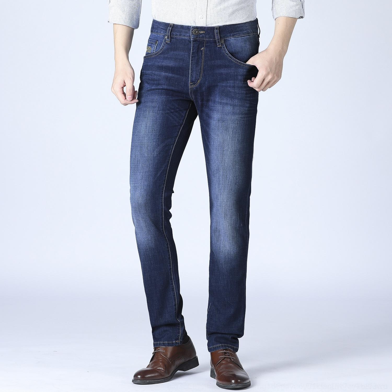 pantalones vaqueros bordados de las YTrDL nuevos y multi-bolsillo de los hombres se lavaron letra del bolsillo barba bordado otoño N1V053 de gato