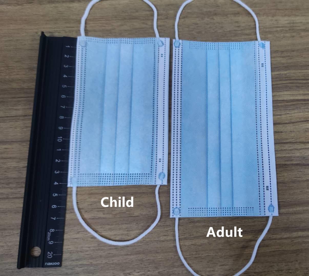 Máscaras azuis da criança Face Face Qualificado 14 centímetros Máscara da proteção descartável para a respiração da criança contra pó Segurança máscaras Online1