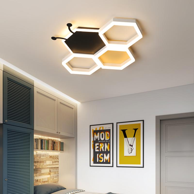 Moderne LED Schlafzimmer Deckenleuchter für Spielzeug der Kinder Raum Kreative Persönlichkeit Schwarzweiss-Rosa-Kind-Raum Kronleuchter