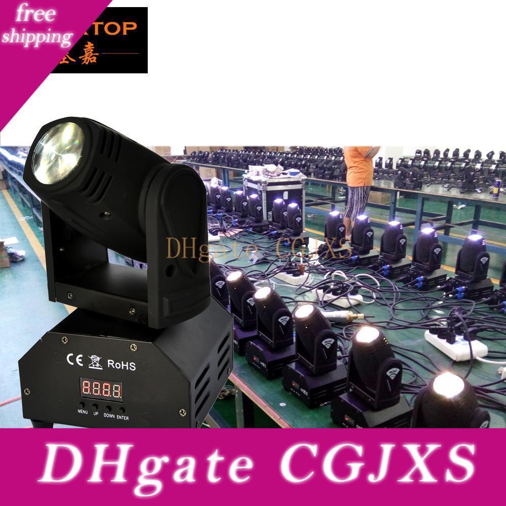 Freeshipping 10pcs / Lot 15W RGBW Mini Led Moving Head Light 110v -240v Dmx 9/16 canais Potência total 20W Pan Tilt 540/270 Disco Tp -L626