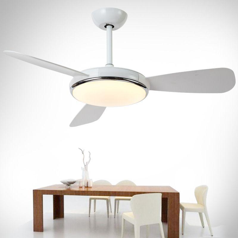 Sıcak yaz için ışıklı led fan lamba ile Amerikan tavan fanı ışık restoranı ev oturma odası yatak odası İskandinav tavan lambası