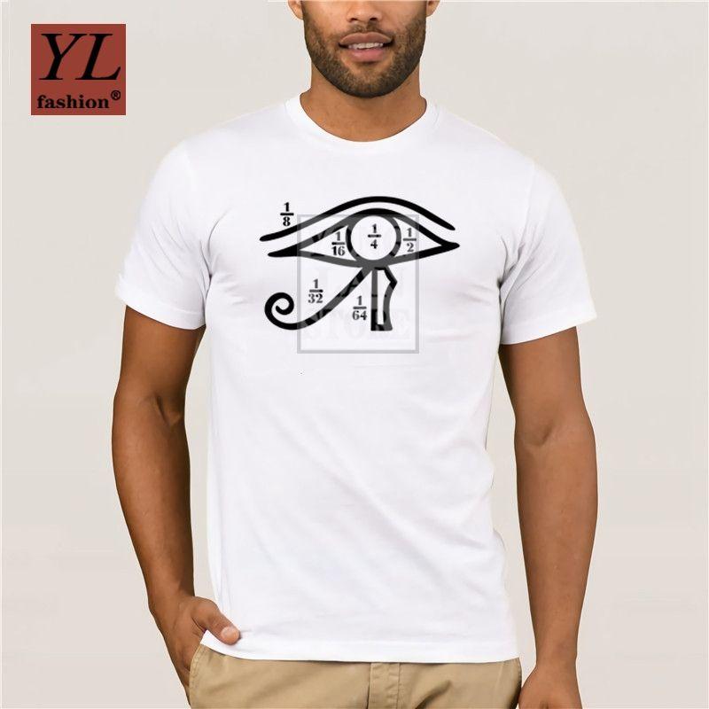 Aptitud Ojo de Horus números fraccionarios Heqat Egipto Camiseta Para formal del verano del Mens original de los hombres