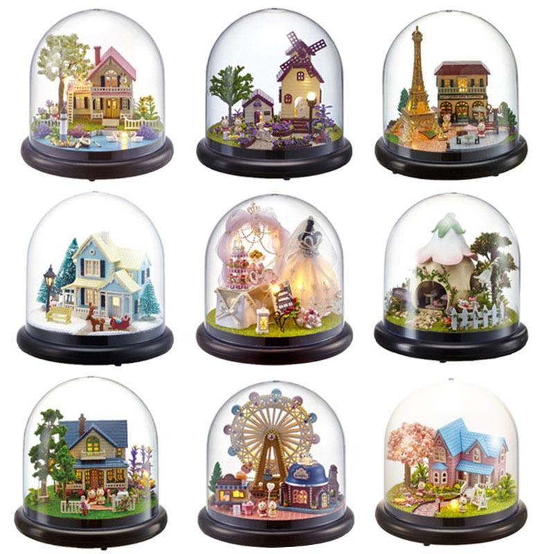 CUTEBEE Maison de poupée miniature bricolage maison de poupées avec meubles en bois Maison Jouets pour enfants cadeau d'anniversaire CX200815 B21