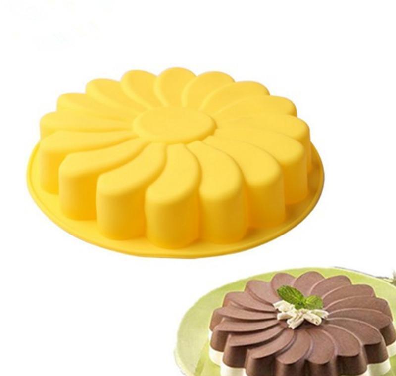 Los platos de girasol Ronda torta de pan para hornear pan 8 pulgadas de pastelería Herramientas silicona Formas SQ2009 SZscm