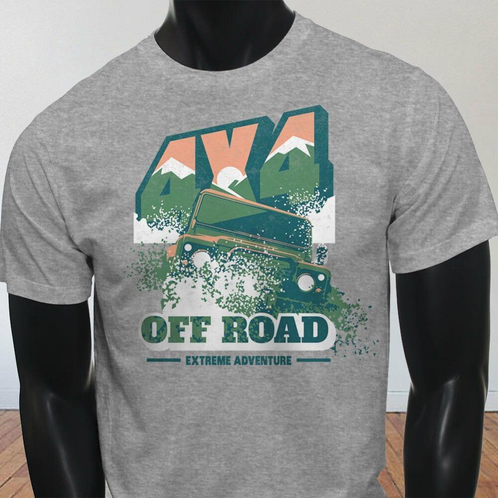 4X4 Грузовики внедорожного Большие колеса грузовика горы Mens 2019 лето бренд мужской Homme Марка Одежда для мужчин Печать Tee Shirt Homme