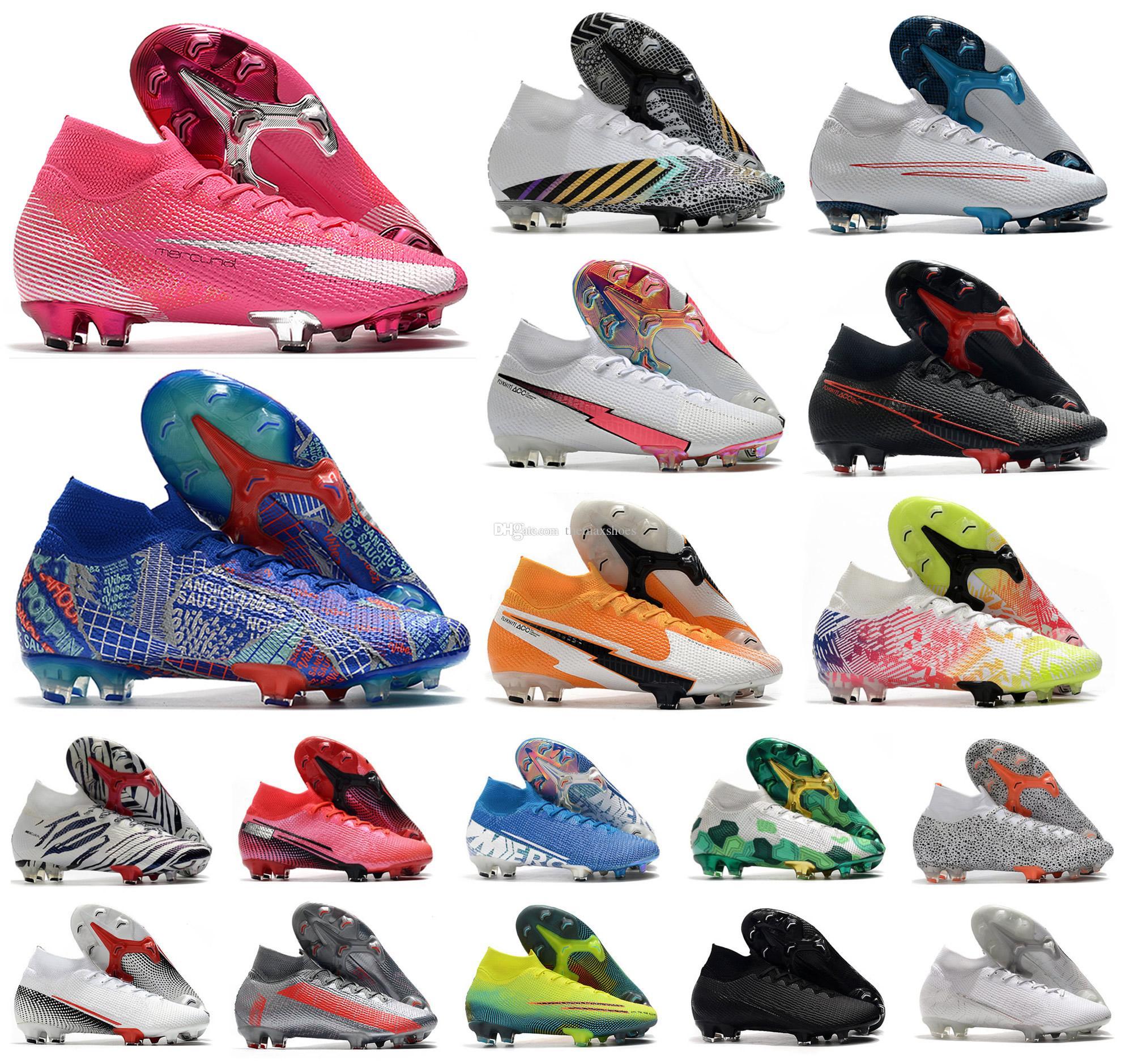 2020 Mercurial Superfly VII 7 360 Elite SE FG Rosa Panther Sancho Ronaldo Neymar Hommes CR7 Garçons Chaussures de football Chaussures de football Crampons US3-11
