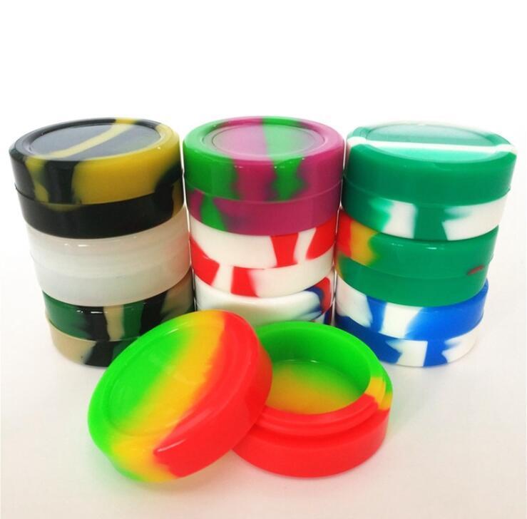 Silikonöl Aufbewahrungsbehälter Rundheits maquillage Organisation Jar Food Grade Non-stick Dabber Wachsöl Container Gläser Varity Farben Jar LSK791