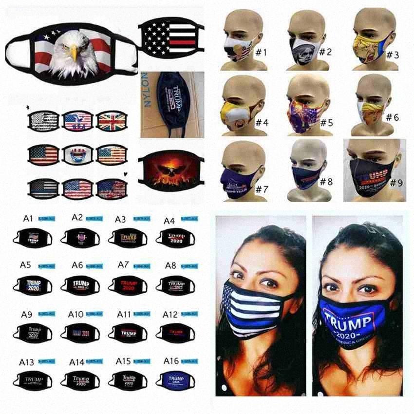 77 stili per adulti Trump Mask 2020 Maschere elezioni americane Viso USA Flag antipolvere lavabile Reuseable Trump maschere facciali ZZA2429 I0N0 #