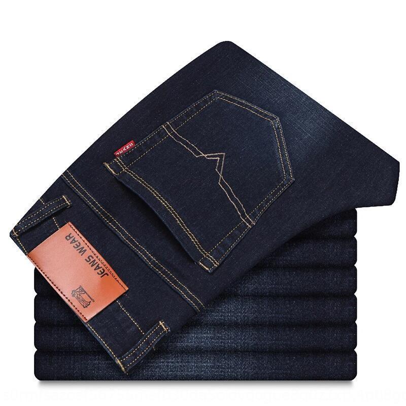 pantalones casuales ZtBLf hombres de negocios grandes de tamaño rectos pantalones casuales Juvenil largas y pantalones vaqueros de los hombres de moda floja