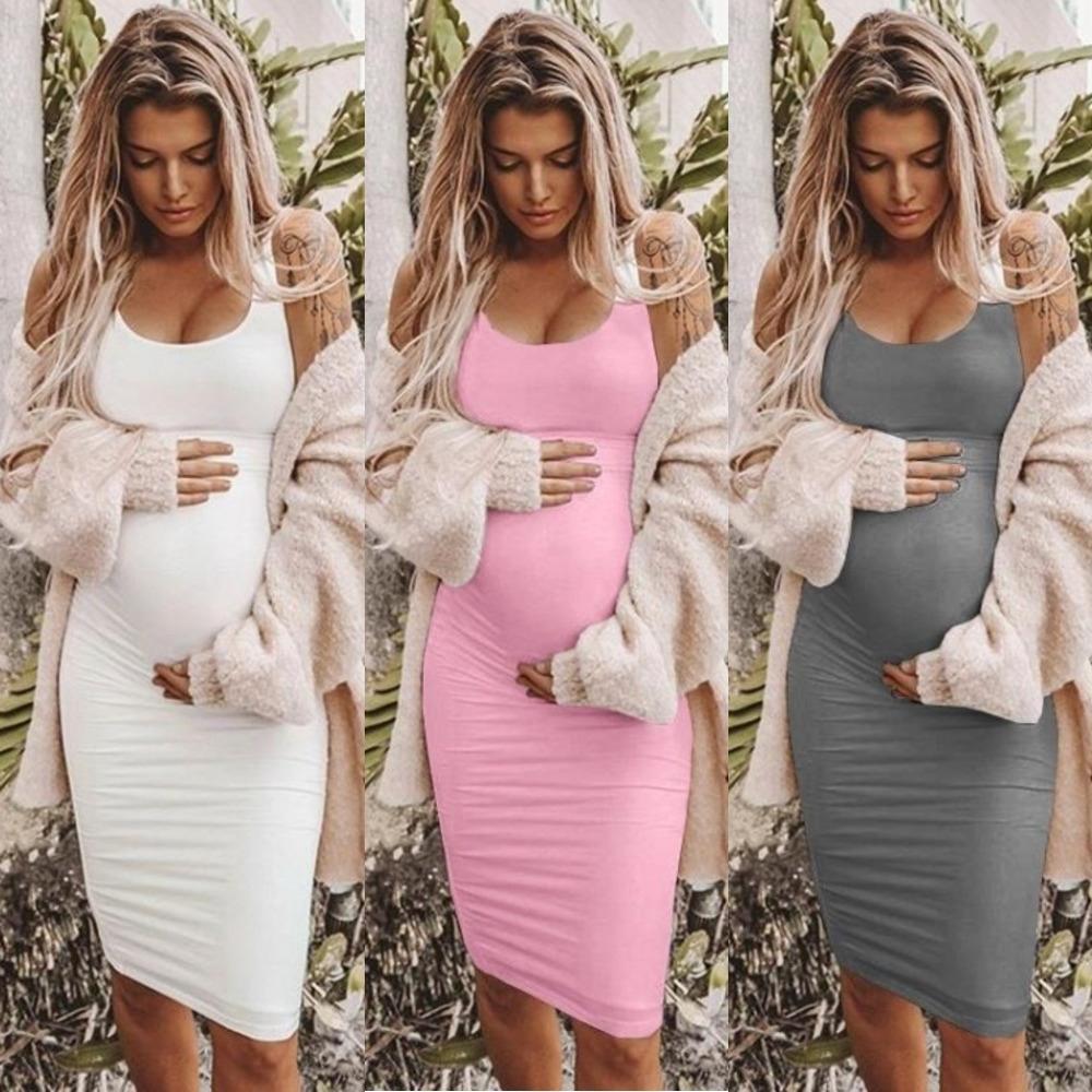Kadınların kolsuz elbise hamile kıyafetleri yaz kolsuz boyun yuvarlak hamile elbisesi için için Y7ffC kz85o 2019 yaz 2019 yuvarlak boyun elbise
