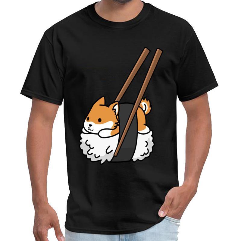 camisa engraçada Shiba Inu Sushi camisa do vintage t homens homens t longa e tamanhos S-5XL pop tee topo