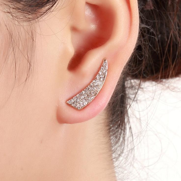 Simple fashion and all-match diamond personalized design full diamond knife-shaped earrings fashion new geometric jewelry earrings 9Lr2C