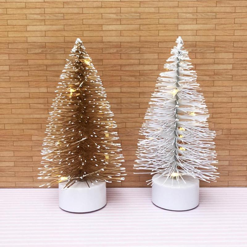 Simulation Mini Christmas Tree product Ornament Xmas Desktop Decorations Ornament Kids DIY New Year Desktop Decor for Home