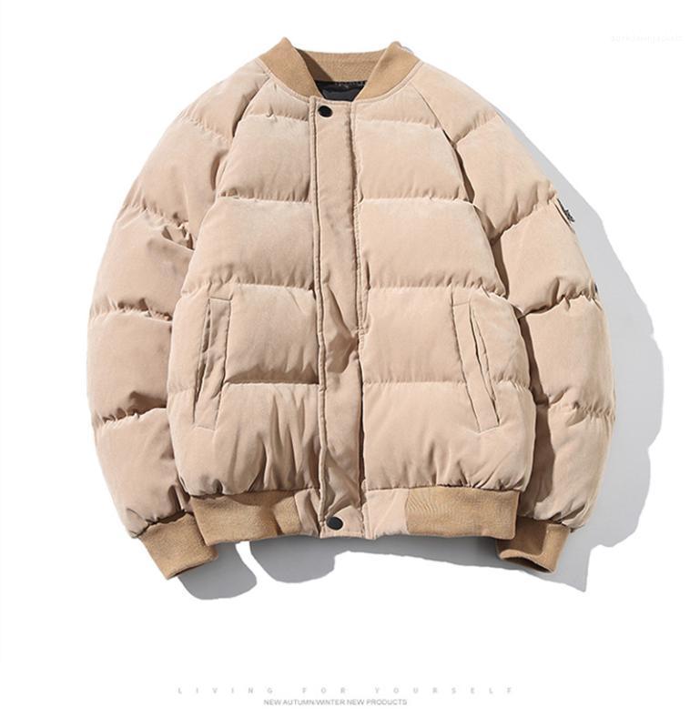 Japanses Estilo Zipper e bolso Inverno High Street Plus Size Tops Mens de Down Parkas Fashion Designer