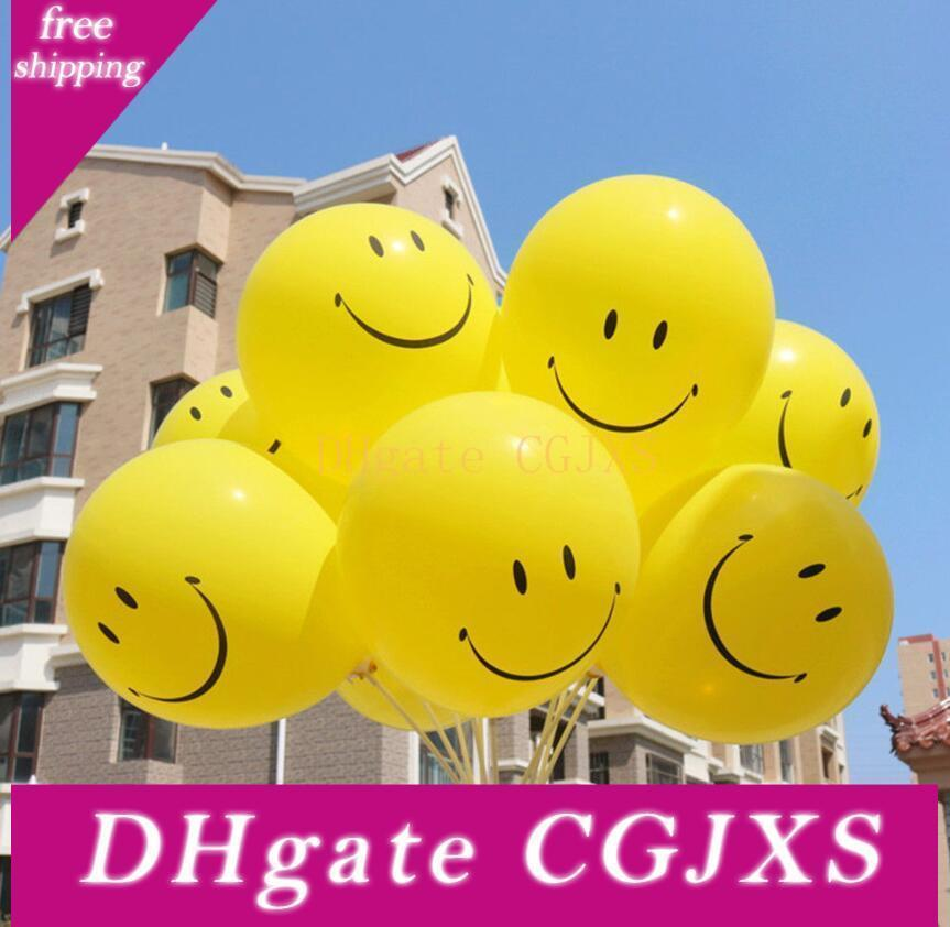 New Fashion 36inch Yellow Smile Face Pattern Latex Large Balloons Funny Kids Toys Birthday Party Wedding Decorations