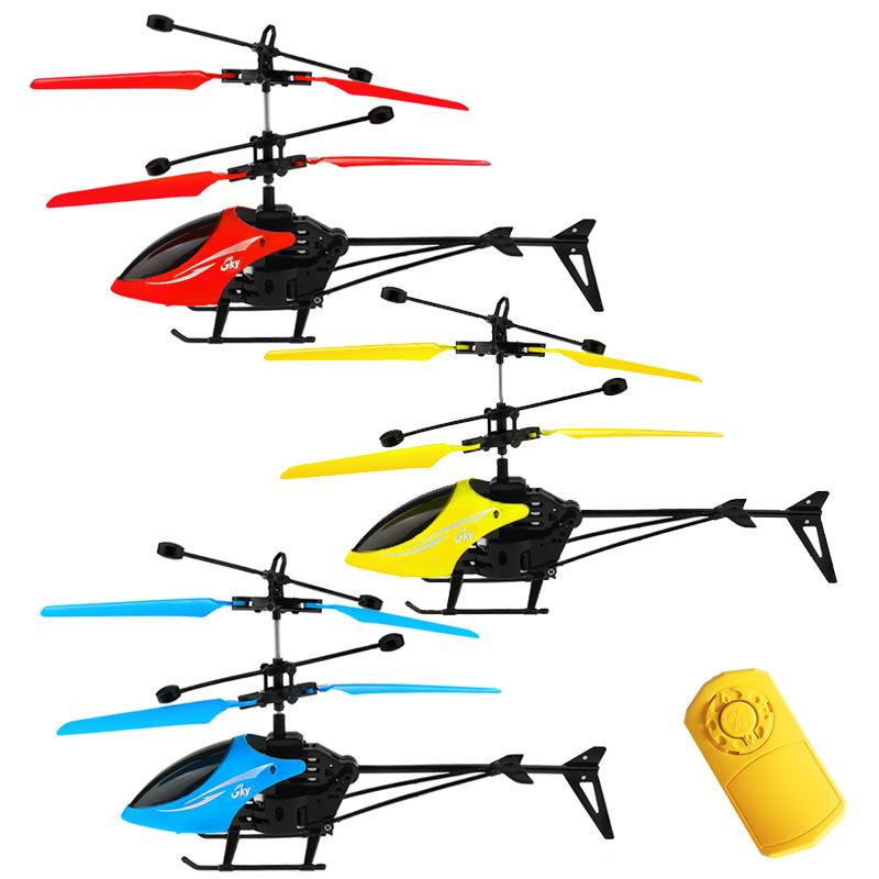 RC Infraed Induction Mini Helicopter Aircraft Flashing Light Toys Christmas Gift