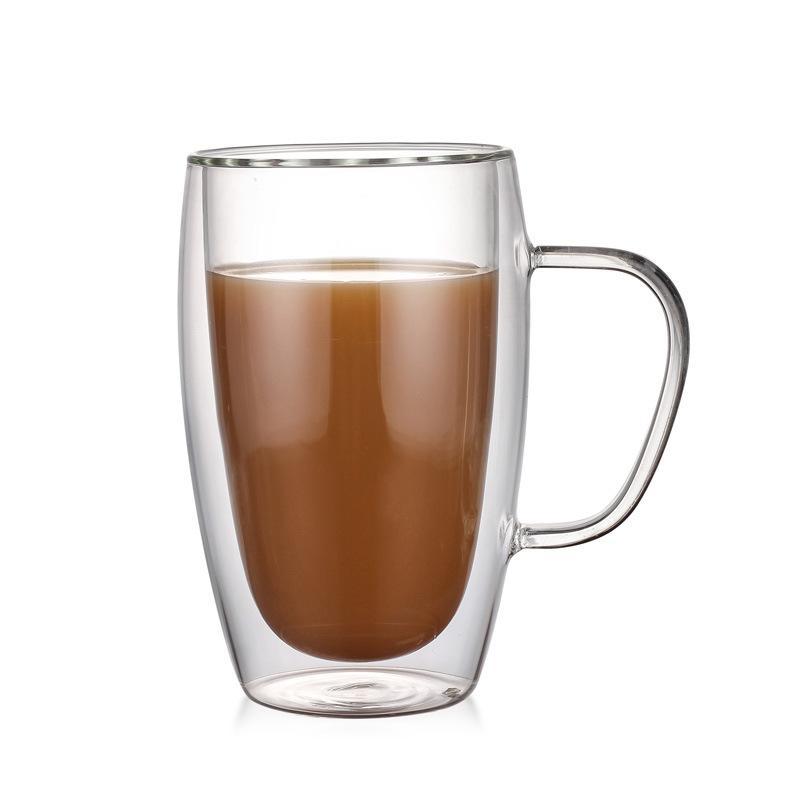 Hot vente cadeau Pyrex 5 oz 12 oz 9 oz 15 oz à double paroi isolé lunettes Espresso Tasse de thé en verre de bière Tasse avec poignée