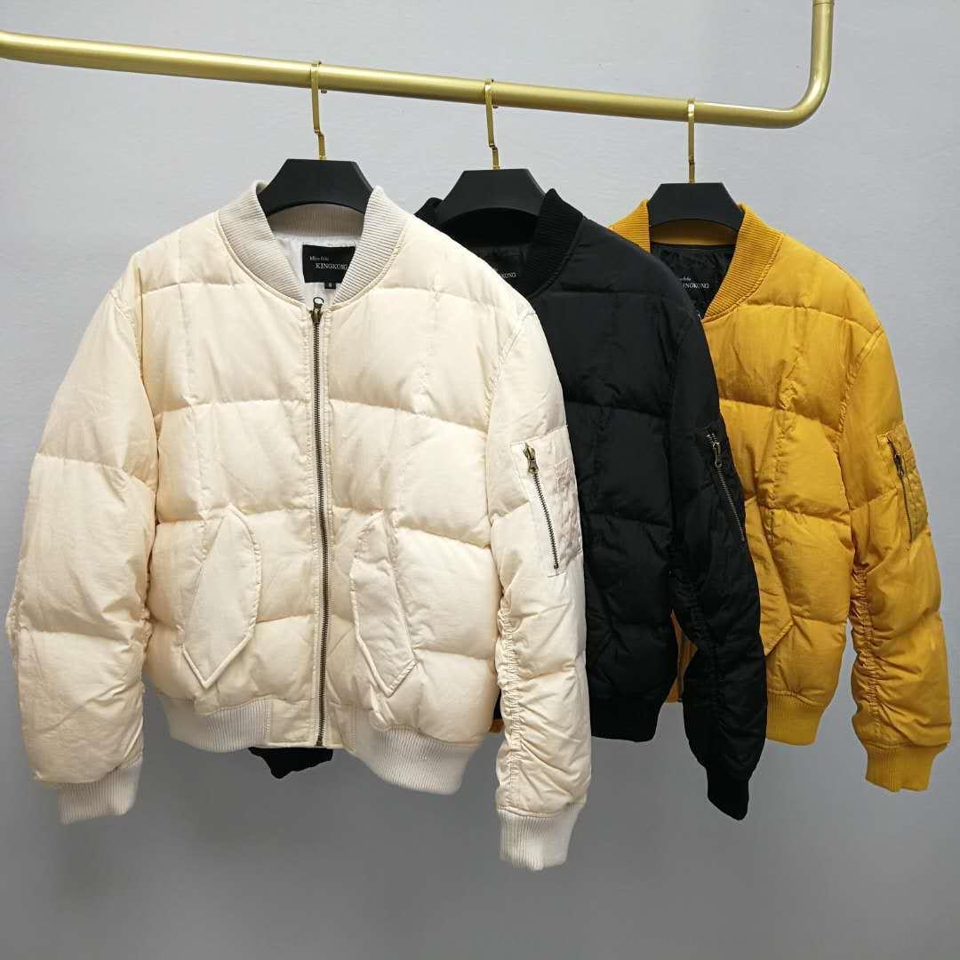 GomyL 2020 Nueva capa de las mujeres abajo chaqueta de estilo coreano suelta espesó corta béisbol abajo de la capa de la chaqueta de las mujeres