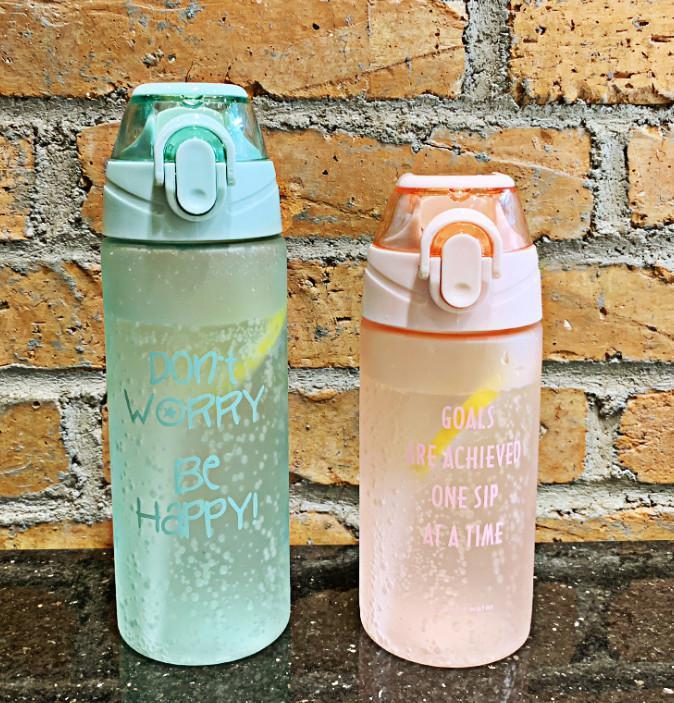 L'ultimo 15 .2 E 20 0,3 once Lettera Frosted Tazze di plastica con la bottiglia di acqua di sport paglia caldaia esterna tazze portatili di trasporto
