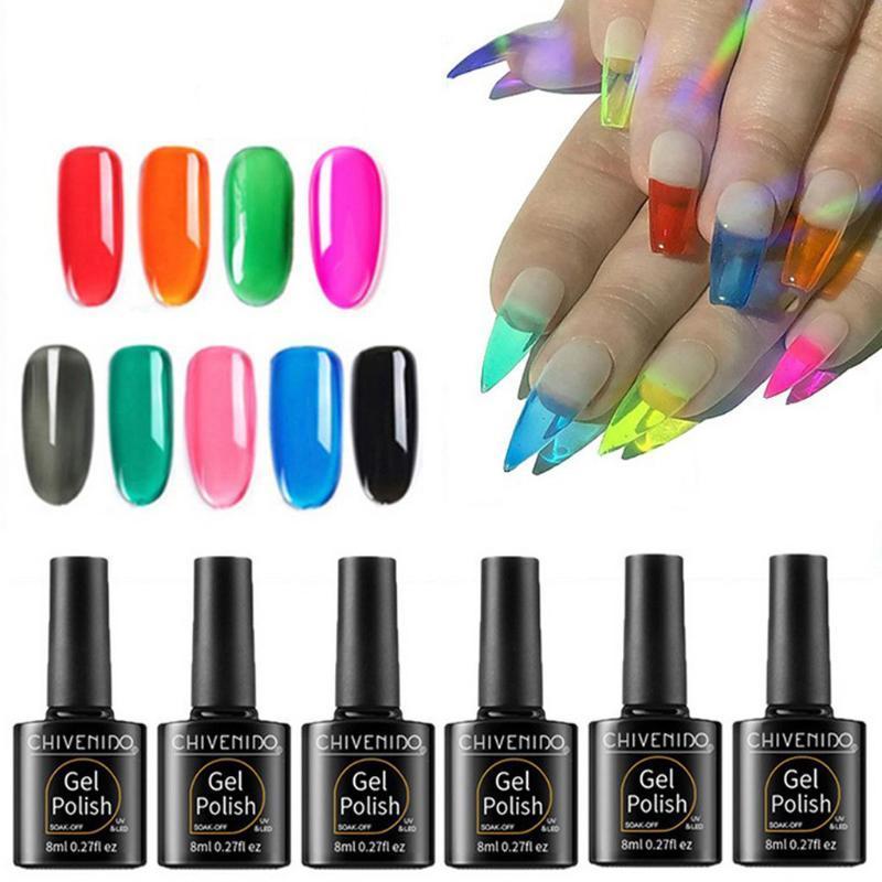 Hot gel nail polish Gelatin Jelly Gel Gelatin Amber Nail Polish Transparent Glazed Art DIY Design Tools #301018