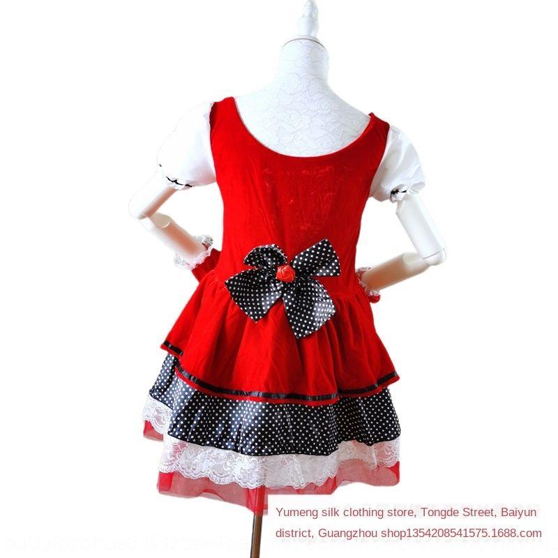 cosplay 8uRDR Natale classico Cappuccetto Rosso di ruolo giro Castello regina di Halloween principessa bigiotteria Cappello Rosso abbigliamento poco pri