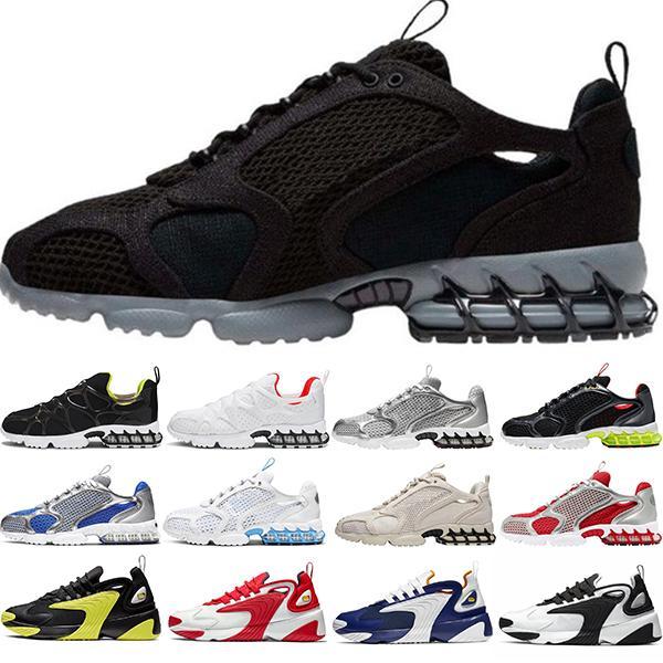 Nike Air Zoom Spiridon caged мужчины женщины дизайнерские тапочки сандалии кости пустыни песок смолы тройной черный белый слайды женские пляжные гостиничные сандалии