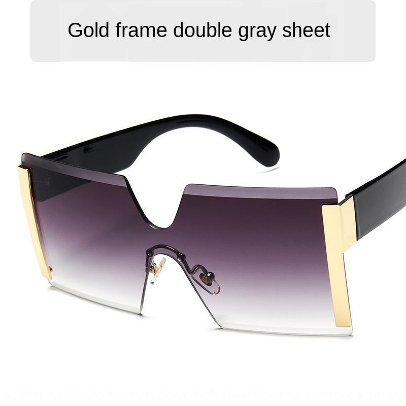 la mode d'une seule pièce soleil nouveau grand cadre des lunettes de soleil à la mode des lunettes de soleil sans cadre personnalisé 6931 b26jV