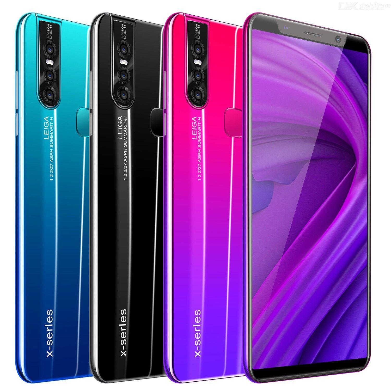 5,0 polegadas X27 HD 4G RAM + 64G ROM 8 + 16 Tela MP Cheap telefone esperto móvel Full Face Unlock Android 8.0 8 Núcleo Dual Sim Smartphones
