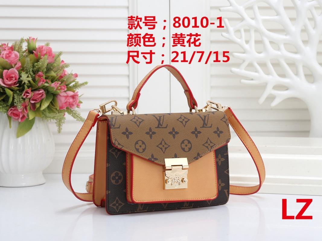 2020 Bag Donne Borse Tracolle raccoglitore di marca del progettista PU Leather Holder Borse Uomo Mini borsa della frizioneLOUISportafoglio 8010