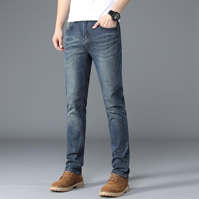 m8bGz automne pantalons pour hommes d'hiver style des hommes à la mode coréenne et des pantalons extensibles et des jeans amincissent pantalons tout match jeans br pour les adolescents