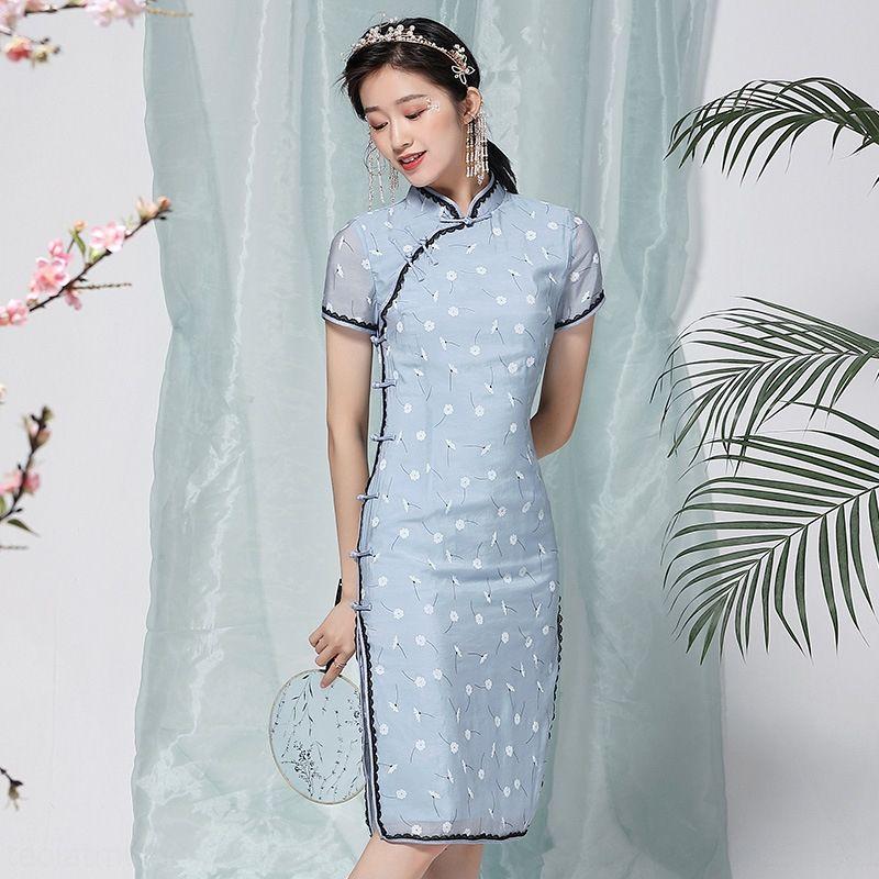 pUO9r pYLfo à procura de estilo Olhando chinese skirtsummer meados de comprimento chinesa melhorou vestido 90267 saia para o estilo temperamento saia saia che
