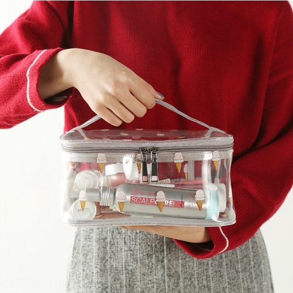 armazenamento mão cosmética transparente saco grande e pequena lavagem saco de armazenagem portátil de grande capacidade simples multifuncional bolsa moderno