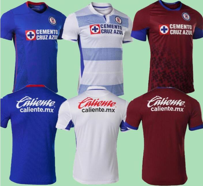 2020 2021 CD Cruz Azul SOCCER JERSEYS HOME AWAY 20 21 ALVARADO 25 RODRIGUEZ 21 PINEDA 31 ESCOBAR 24 ROMO 7 JERSEY FOOTBALL SHIRTS
