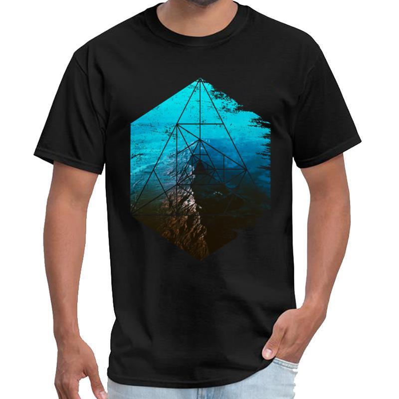 Esilarante Forma geometrica esagonale Post Apocalyptic astratta Yung Lean t shirt Donna tee shirt Casa de papel grandi dimensioni s ~ 5xL pop t