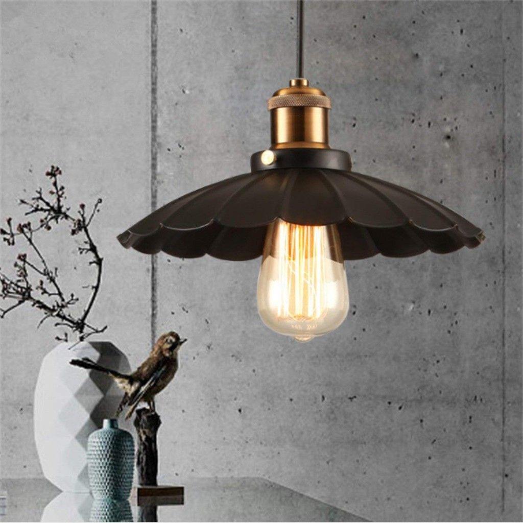 금속 우산 펜던트 조명 소박한 레트로 산업웨어 하우스 펜던트 램프 북유럽 미니멀 한 조명기구 향수 빛