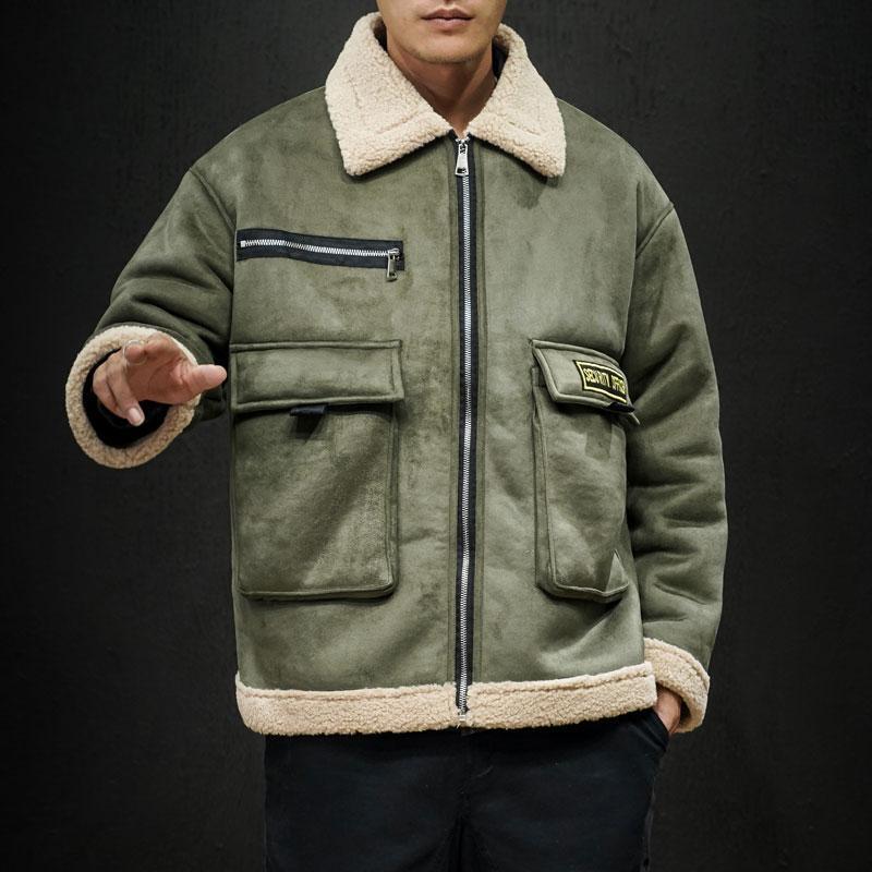 2019 Yeni Stil Kış Ceket Erkekler Ve Kış Günlük Moda Kalın Kadife M-5XL için Coat Peffer Parka Erkekler Giyim