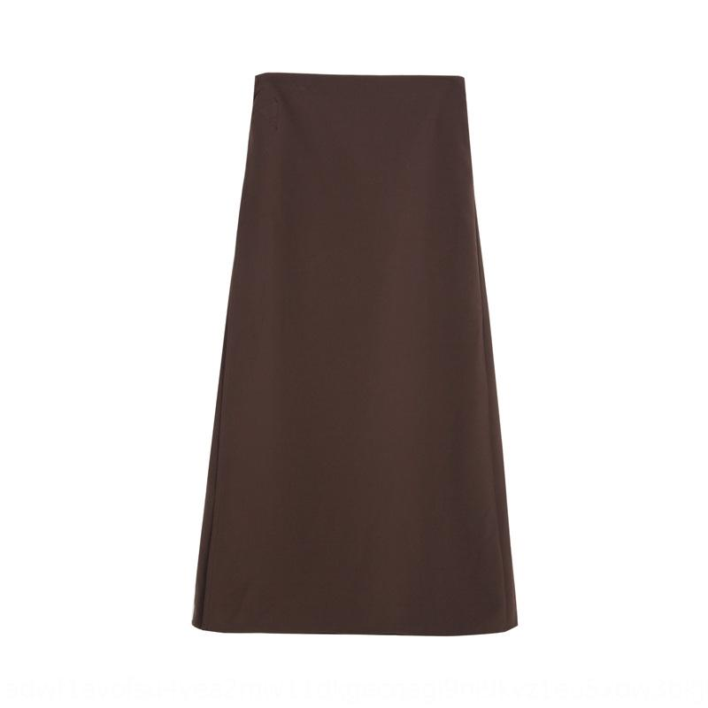 8Ovun gVSHN [Ge Ming] style coréen haute lacée taille 2020 pour les femmes d'une pièce nouvelle ski à mi-longueur de la jupe couleur salopette robe longue robe solide