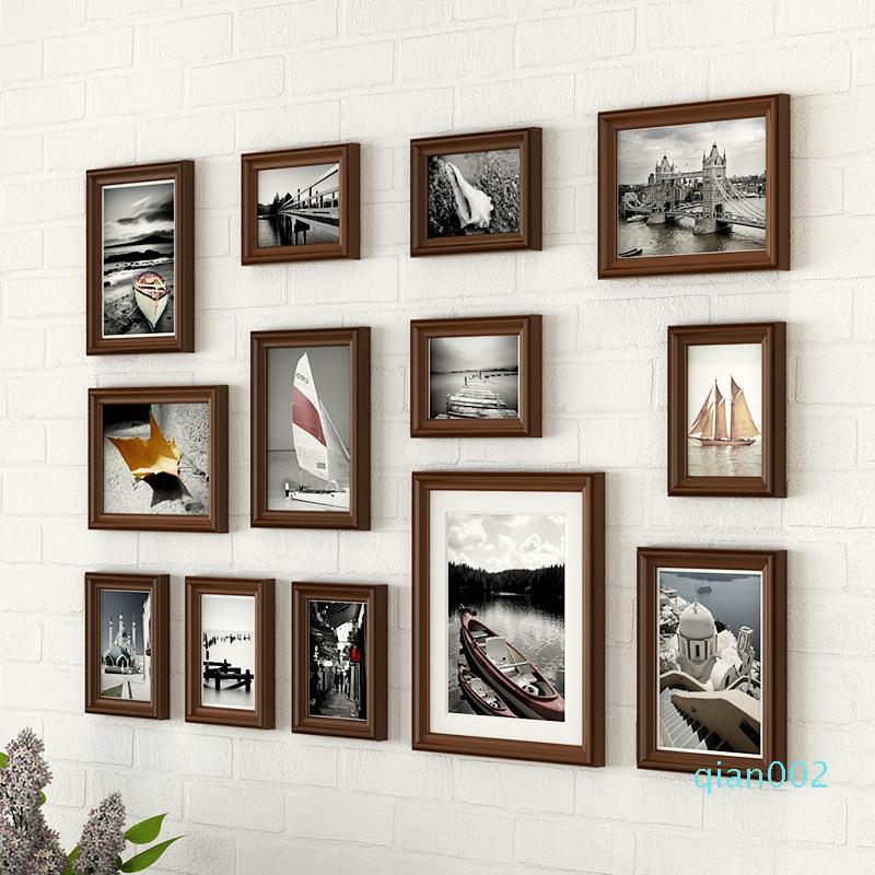 Marcos para cuadros de madera Marco de fotos Marcos de Imagen pared de la foto Conjunto Modern Pared Cadre Moderne 13 Piezas