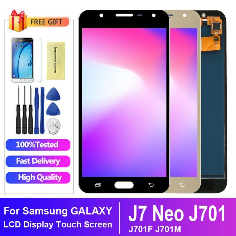 % 100 Samsung J701F LCD ekran için Samsung J7 NEO J701 LCD Sayısallaştırıcı Meclisi değiştirilmesi için test edilmiştir